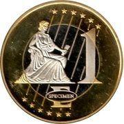 1 E (Hungary Euro Fantasy Token) – reverse