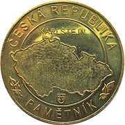 Token - Česká Republika Pamětník (Karlštejn) – reverse