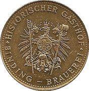 Token - Historischer Gasthof (Heilig Geist, Mainz) – reverse