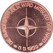 Token - 40 Jahre Bundesrepublik Deutschland (NATO) – obverse