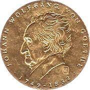Token - Johann Wolfgang von Goethe (Über allen...) – obverse