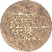 Token - Johann Wolfgang von Goethe (Über allen...) – reverse