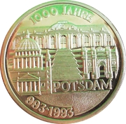 1000 Jahre Potsdam (Germany) – reverse