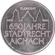 Tourist Token - 650 Jahre Stadtrecht Aichach – reverse