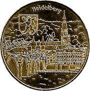 National Tokens Deutsche Münzkollektion - Heidelberg (Heiliggeistkirche, river view) – obverse