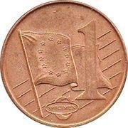 1 Cent (Romania Euro Fantasy Token) – reverse
