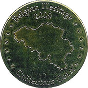 Belgian Heritage Collectors Coin - Paradisio – reverse