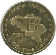 Belgian Heritage Collectors Coin - Brussel (Atomium Expo 58) – reverse