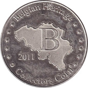 Belgian Heritage Collectors Coin - Antwerpen (Onze-Lieve-Vrouwekathedraal) – reverse