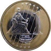 1 E (Bulgaria Euro Fantasy Token) – reverse