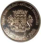 50 Francs/50 Riksdaler – obverse