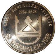 50 Francs/50 Riksdaler – reverse