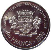 100 Francs/100 Riksdaler – obverse