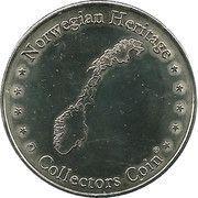 Norwegian Heritage Collectors Coin - Kon-Tiki Museum (1977/78 Tigris) -  reverse