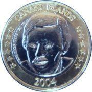 1 E (Canary Islands Euro Fantasy Token) – obverse