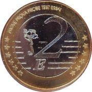 2 E (Cape Verde Euro Fantasy Token) – reverse