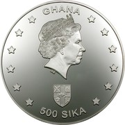 500 Sika - Elizabeth II (Phoenician Navigators) – obverse