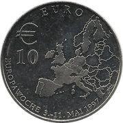 10 Euro (Europawoche 1997 in Berlin) – reverse