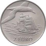 """2 Euro - Beatrix (Sail Den Helder """"Brick / Gannet"""") -  reverse"""