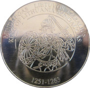 Lithuanian Heritage Collectors Coin - King of Lithuania Mindaugas – obverse