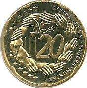 20 Cent (Bulgaria Euro Fantasy Token) – reverse