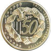 50 Cent (Bulgaria Euro Fantasy Token) – reverse