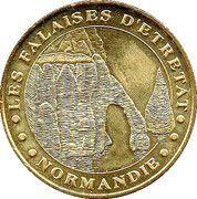 Monnaie de Paris Tourist Token - Normandie (Les falaises d'Etretat) – obverse