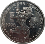 10 ECU - Beatrix (J. R.Thorbecke -1798/1872-) -  obverse