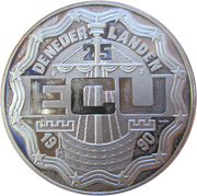 25 ECU - Beatrix (Geert Grote) -  obverse