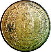 Monnaie de Paris - Ecomusee des Mines de Fer de Lorraine . Sainte Barbe – obverse