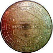 Monnaie de Paris - Ecomusee des Mines de Fer de Lorraine . Sainte Barbe – reverse