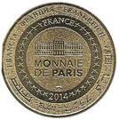 Monnaie de Paris Tourist Token - Musée du Louvre (La Joconde) – reverse
