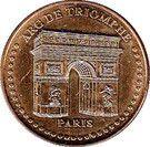 Monnaie de Paris Tourist Token - Paris (Arc de Triomphe) – obverse