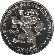 25 ECU - Beatrix (Jacob van Campen -1596/1657-) -  obverse