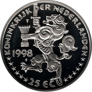 25 ECU - Beatrix (J. R. Thorbecke) -  obverse