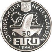 50 Euro - Beatrix (Const. Huygens) -  obverse