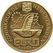 100 Euro - Beatrix (M.C.Escher) -  obverse