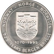 5 ECU - Harald V (Bergen Brygge) – obverse