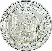 Monnaie de Paris - Cathédrale St-Julien, Le Mans (centenaire de la création de l'Armée Bleue) – obverse