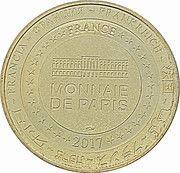 Monnaie de Paris - Cathédrale St-Julien, Le Mans (centenaire de la création de l'Armée Bleue) – reverse