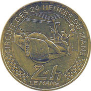 Monnaie de Paris Tourist Token - Le Mans (Circuit automobile) – obverse