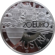 20 Euro (1000th Anniversary of the Formation of Austria) – obverse