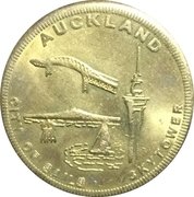 New Zealand Souvenir Coin - Auckland – obverse