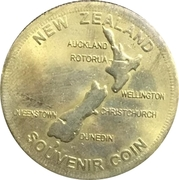 New Zealand Souvenir Coin - Auckland – reverse