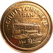 Token - Canterbury (Christchurch Tram and Southern Alps) – obverse