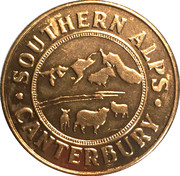 Token - Canterbury (Christchurch Tram and Southern Alps) – reverse