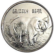 Token - New York Central Park Zoo (Grizzly Bear) – obverse
