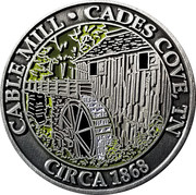 Token - Great Smoky Mountains (Cable Mill) – reverse