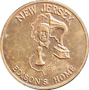 Token - New Jersey (Edison's Home) – obverse