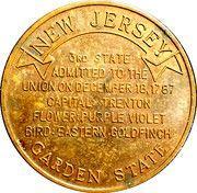 Token - New Jersey (Edison's Home) – reverse